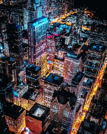 aerial photo of cityscape at night 2362004